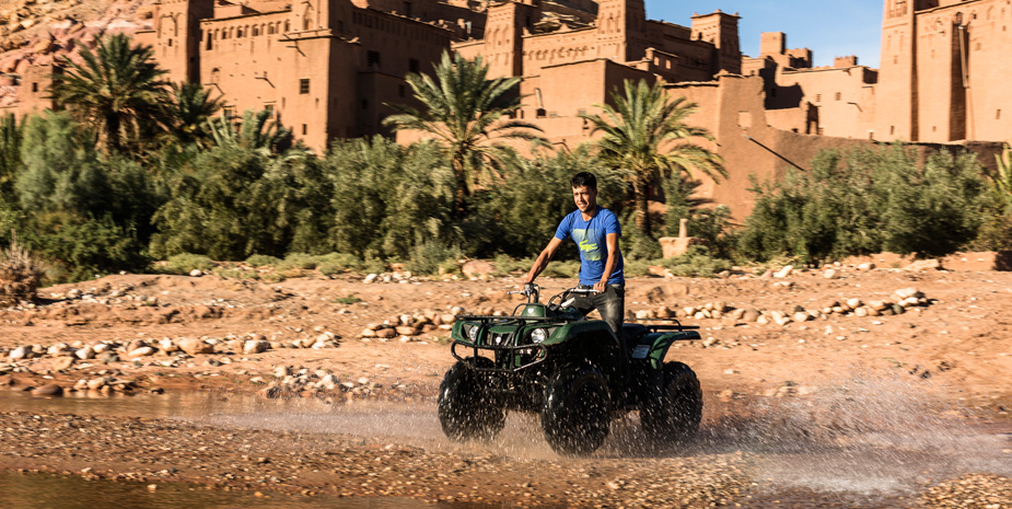 We organize Ride-on Quad in and around Aït Benhaddou with our partner The Desert Wanderer.