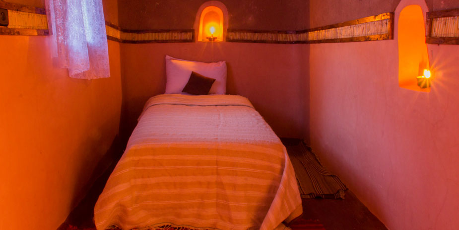 Kasbah Tebi Guesthouse offer three deluxe Single Room in a 400 years old berber kasbah